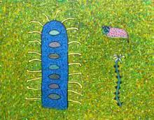 The Cactus | Painting by artist Sandeep Ghule | acrylic | Canvas