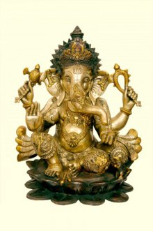 Brass Ganesha II | Craft by artist Brass Art | Brass