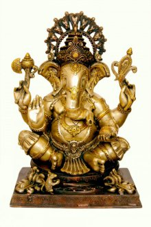 Brass Ganesha III | Craft by artist Brass Art | Brass
