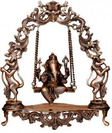 Brass Art | Brass Ganesh Jhula II Craft Craft by artist Brass Art | Indian Handicraft | ArtZolo.com