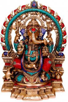 Brass Art | Ganesha Idol Craft Craft by artist Brass Art | Indian Handicraft | ArtZolo.com