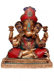 Ganesha Wearing Pagdi | Craft by artist Brass Art | Brass