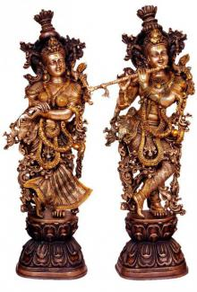 Brass Art | Radha Krishna II Craft Craft by artist Brass Art | Indian Handicraft | ArtZolo.com