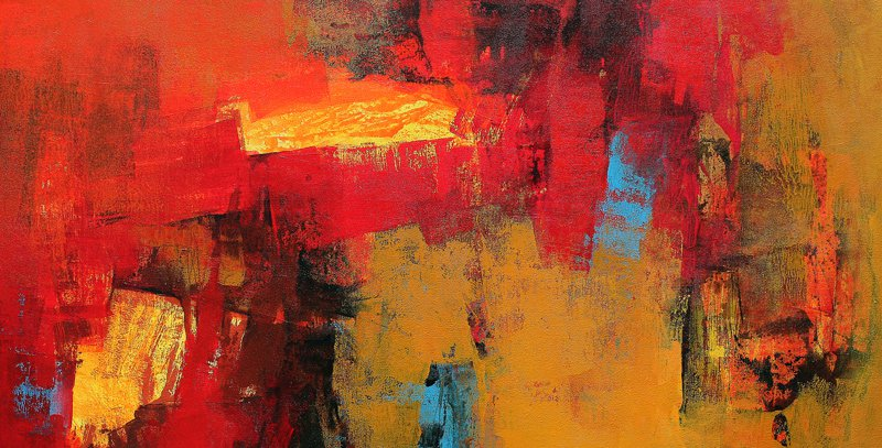 Red Horizontal Abstract By Artist Siddhesh Rane