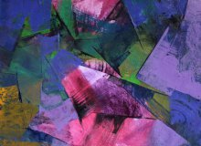 Purple Abstract | Painting by artist Siddhesh Rane | acrylic | Paper