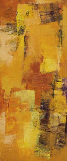 Abstract Acrylic Art Painting title Yellow Vertical Abstract I by artist Siddhesh Rane