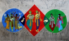 contemporary Acrylic Art Painting title Amusement by artist Chetan Katigar