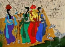 #acrylic #canvas #krishna #religious