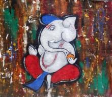 Religious Acrylic Art Painting title Kapila 3 by artist Chetan Katigar