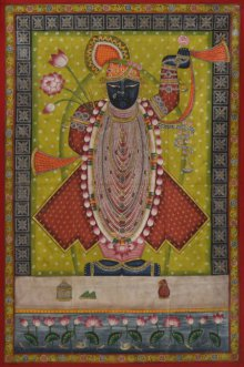 Srinathji - Pichwai Art | Painting by artist Artisan | other | Cloth
