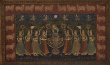 Religious Tribal Art Painting title 'Pichwai' by artist Unknown