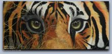 Tiger eyes | Painting by artist Mahesh Jangam | acrylic | Canvas