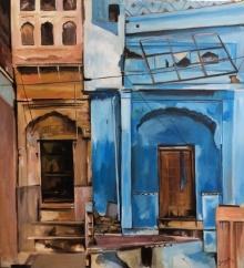 Shagufta Mehdi | Acrylic Painting title Forgotten Alleys on canvas | Artist Shagufta Mehdi Gallery | ArtZolo.com