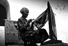 Batik maker | Photography by artist Rahmat Nugroho | Art print on Canvas