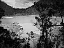 Ciwedey White Crater | Photography by artist Rahmat Nugroho | Art print on Canvas