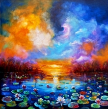 Nature Acrylic Art Painting title Beauty Of Nature 2 by artist Arjun Das