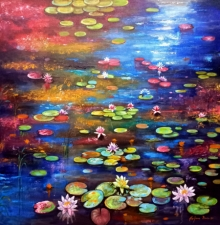 Nature Acrylic-oil Art Painting title Beauty Of Nature 3 by artist Arjun Das