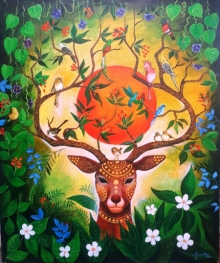 Nature Acrylic Art Painting title Nature Of Love by artist Arjun Das