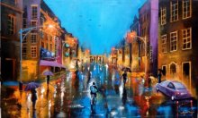 Arjun Das | Acrylic Painting title Rainy Day 4 on canvas | Artist Arjun Das Gallery | ArtZolo.com