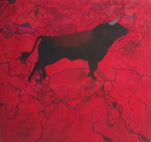 Animals Acrylic Art Painting title 'The Winner' by artist Govind Biswas