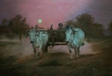 Landscape Oil Art Painting title Img 20201216 132446 by artist Lisha N T