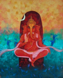 #abstract #ganesha #ganapathi #religious #