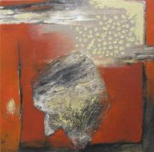 Figurative Acrylic Art Painting title Gaze In Abstract by artist Pradip Kumar Sau