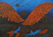 Manjula Dubey Paintings | Acrylic Painting - Nirbhaya by artist Manjula Dubey | ArtZolo.com