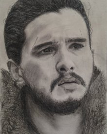 Jon Snow | Drawing by artist Joanne Morais | | charcoal | Paper