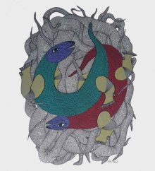 art,painting,traditional,gond,indian,folk,tribal