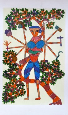 art,painting,folk,indian,traditional,tribal,gond