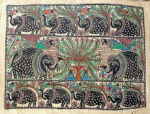 Elephants In The Jungle Madhubani Art | Painting by artist De Kulture Works | other | Handmade Paper