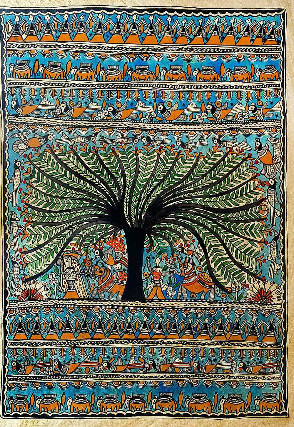 A Tree Of Life by Chano Devi | madhubani Paintings ...