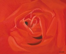Nature Oil Art Painting title 'A Rose For You' by artist SIMON MASON