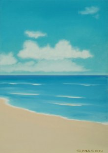 SIMON MASON | Oil Painting title At The Beach on Canvas | Artist SIMON MASON Gallery | ArtZolo.com