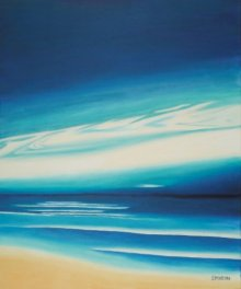 SIMON MASON Paintings | Oil Painting - Blue Sky by artist SIMON MASON | ArtZolo.com