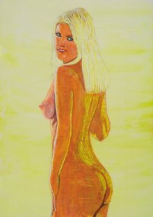 Nude Dry-pastel Art Painting title 'Christine 1' by artist SIMON MASON