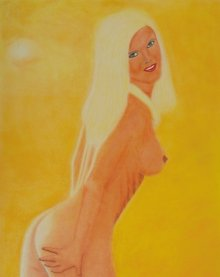 Nude Dry-pastel Art Painting title 'Christine 2' by artist SIMON MASON