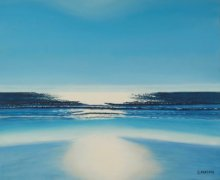 Seascape Oil Art Painting title 'Glare' by artist SIMON MASON