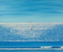 Seascape Oil Art Painting title 'Surfing On Diamonds' by artist SIMON MASON