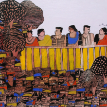 Figurative Acrylic Art Painting title 'Untitled' by artist Rama Krishna V