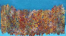 Cityscape Acrylic Art Painting title 'Cityscape 11' by artist Rama Krishna V