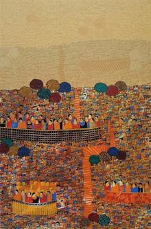 Cityscape Acrylic Art Painting title Cityscape 12 by artist Rama Krishna V