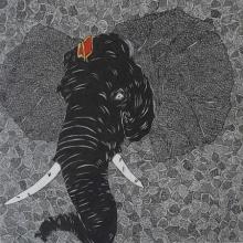 art, drawing, pen, canvas, religious, ganesha