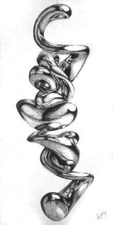 Abstract Pen Art Drawing title 'Untitled' by artist Sanchit Raj