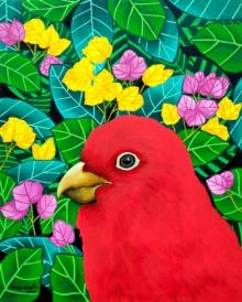 Nature Acrylic Art Painting title 'Sanguinity' by artist Sreya Gupta