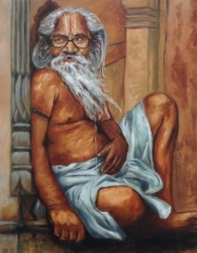 Rajesh Gawhale Paintings | Oil Painting - Indian Culture by artist Rajesh Gawhale | ArtZolo.com