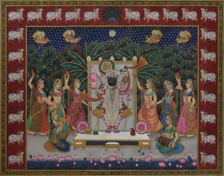 Lord Krishna Canvas Paintings | Modern Wall Art & Prints | ArtZolo com