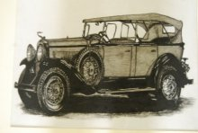 Lifestyle Charcoal Art Painting title Vintage Car 2 by artist Sakshi Jain