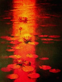 Water Lilies 60 | Painting by artist Swati Kale | oil | Canvas